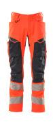 19579-236-14010 Hose mit Knietaschen - hi-vis Orange/Schwarzblau