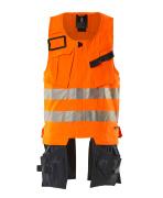 19589-711-14010 Werkzeugweste - hi-vis Orange/Schwarzblau