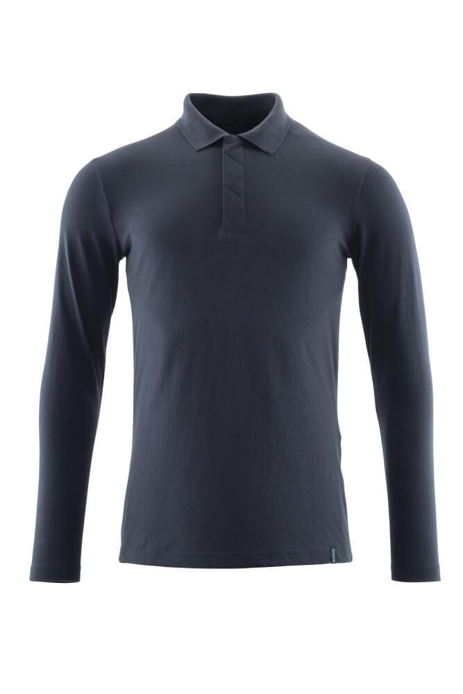 20483-961-010 Polo-Shirt, Langarm - Schwarzblau