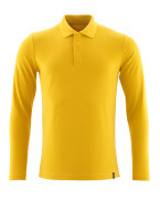 20483-961-70 Polo-Shirt, Langarm - Currygelb