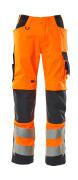 20879-236-14010 Hose mit Knietaschen - hi-vis Orange/Schwarzblau