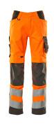 20879-236-1418 Hose mit Knietaschen - hi-vis Orange/Dunkelanthrazit