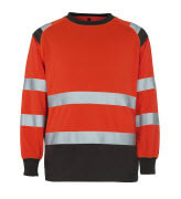 50110-854-A49 Sweatshirt - hi-vis Rot/Dunkelanthrazit