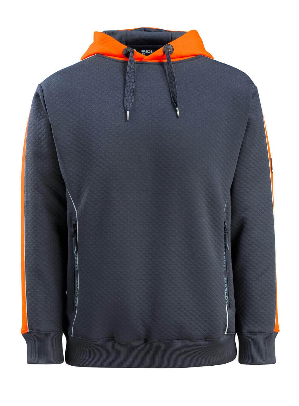50124-932-01014 Kapuzensweatshirt - Schwarzblau/hi-vis Orange