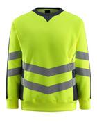 50126-932-17010 Sweatshirt - hi-vis Gelb/Schwarzblau