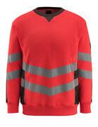50126-932-22218 Sweatshirt - hi-vis Rot/Dunkelanthrazit