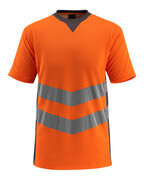50127-933-1418 T-Shirt - hi-vis Orange/Dunkelanthrazit