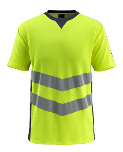 50127-933-14010 T-Shirt - hi-vis Orange/Schwarzblau