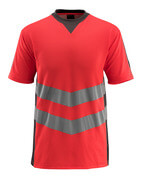 50127-933-22218 T-Shirt - hi-vis Rot/Dunkelanthrazit