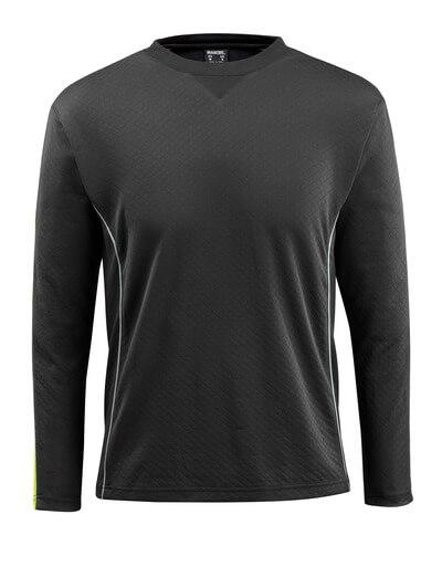 50128-933-0917 T-Shirt, Langarm - Schwarz/hi-vis Gelb