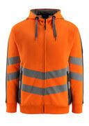 50138-932-1418 Kapuzensweatshirt mit Reißverschluss - hi-vis Orange/Dunkelanthrazit