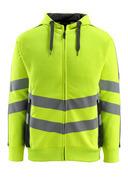 50138-932-1709 Kapuzensweatshirt mit Reißverschluss - hi-vis Gelb/Schwarz