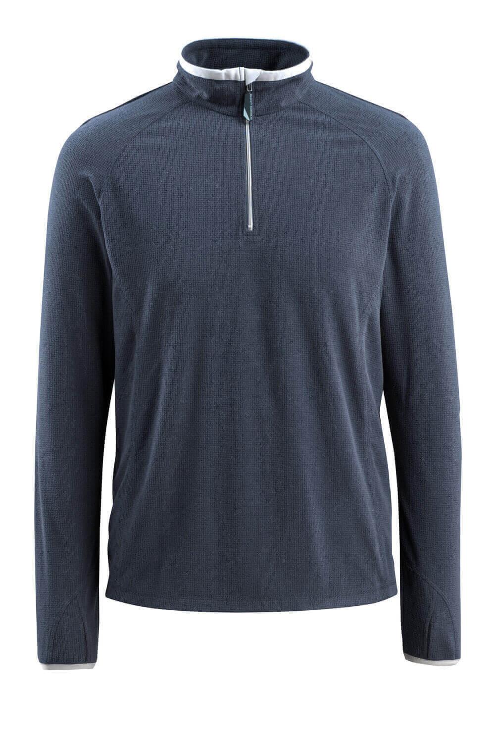 50148-239-010 Fleecepullover mit kurzer Reißverschluss - Schwarzblau