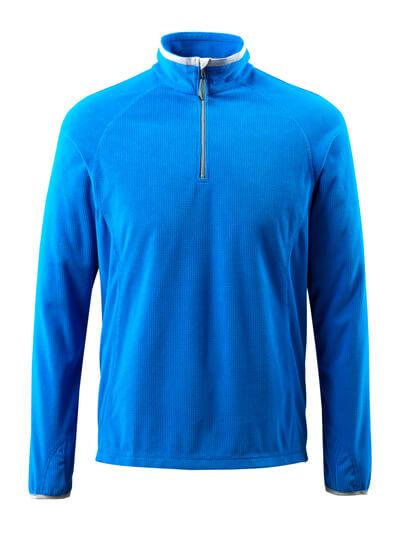 50148-239-010 Fleecepullover mit kurzem Reißverschluss - Schwarzblau