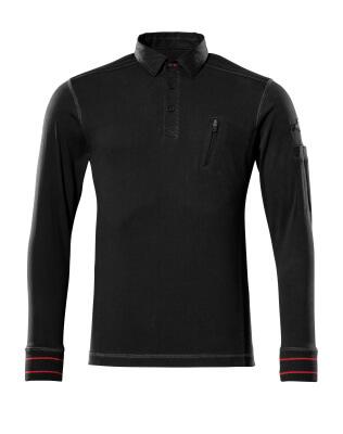 50352-833-09 Polo-Sweatshirt - Schwarz