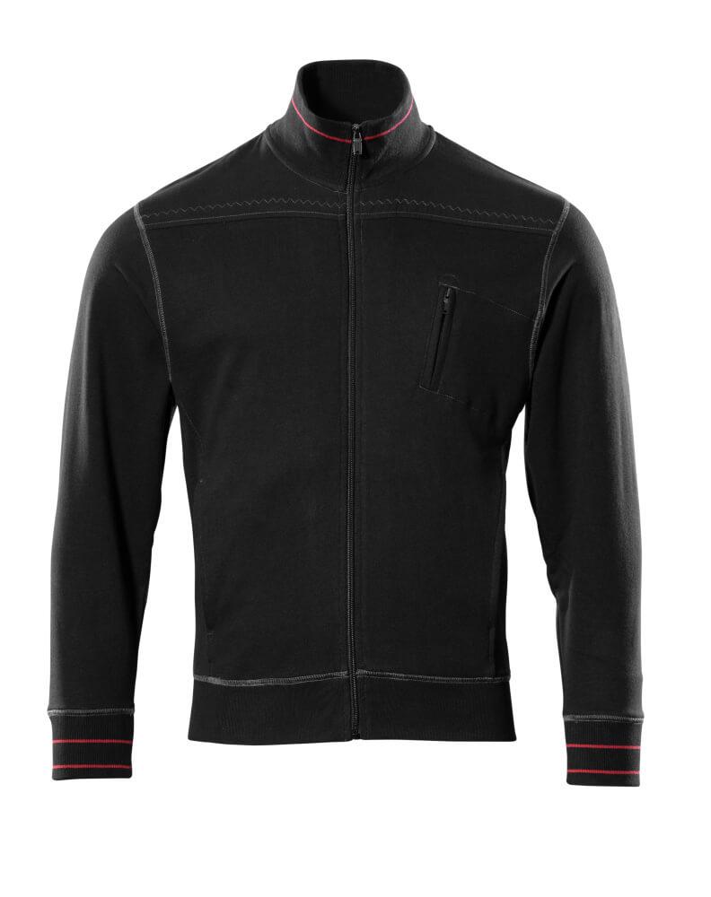 50353-834-09 Sweatshirt mit Reißverschluss - Schwarz