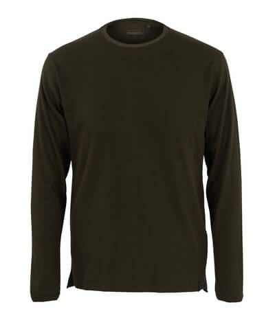 50402-865-19 T-Shirt, Langarm - Dunkeloliv
