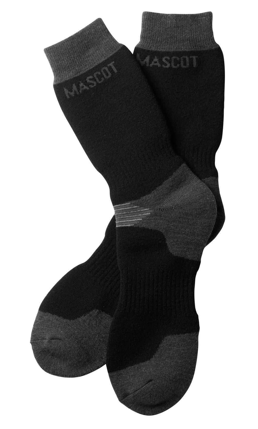 50404-876-0918 Socken - Schwarz/Dunkelanthrazit