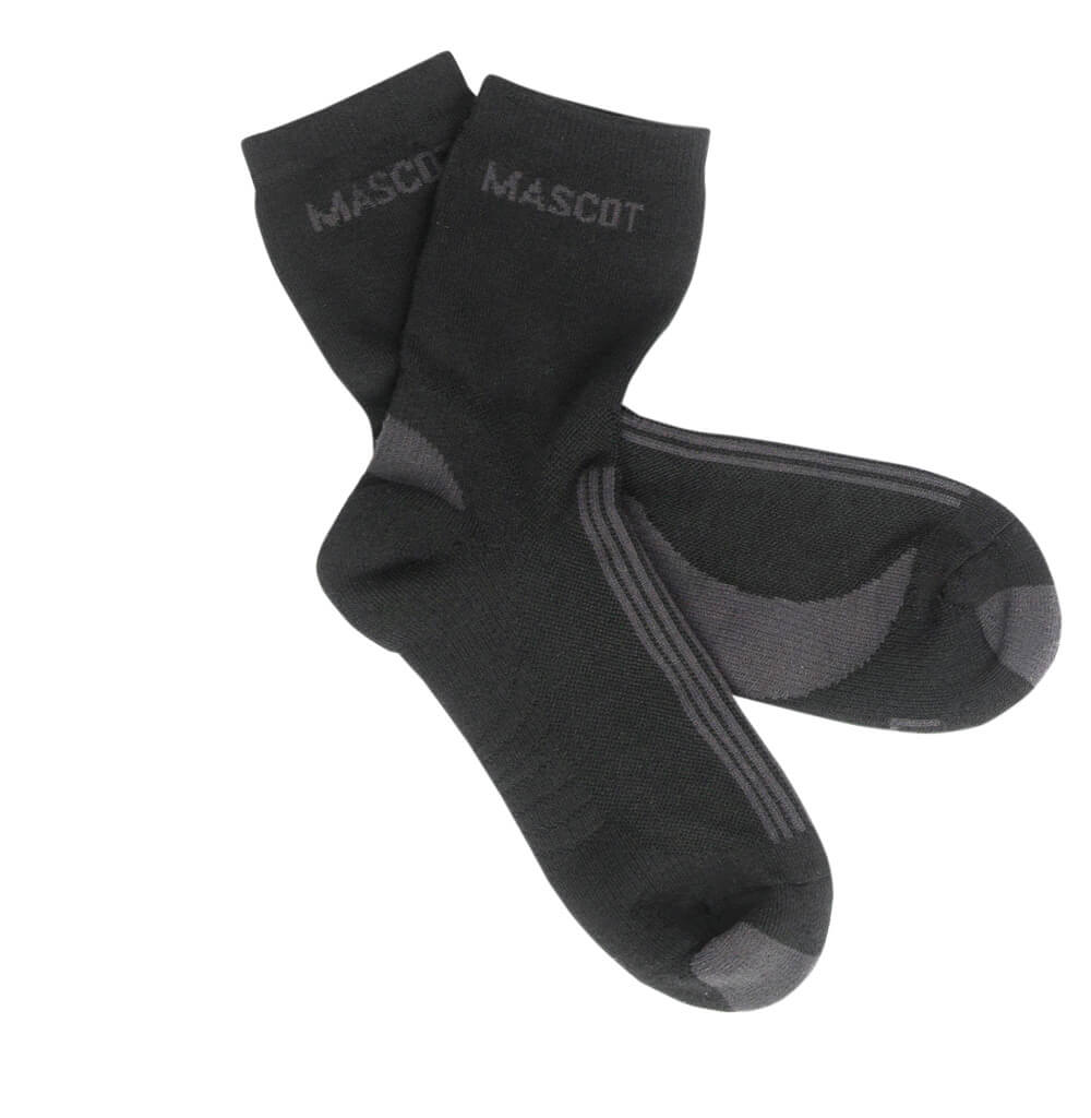 50410-881-0918 Socken - Schwarz/Dunkelanthrazit