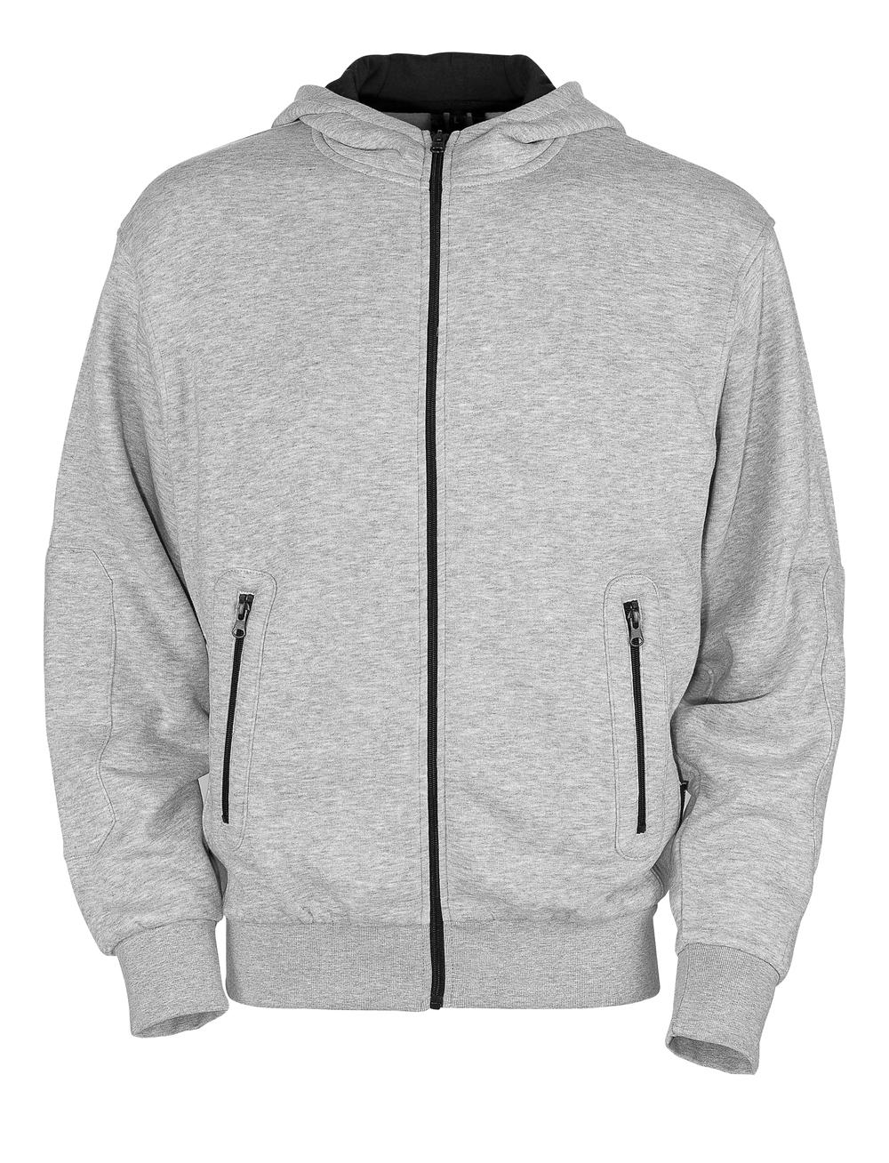 50423-191-08 Kapuzensweatshirt mit Reißverschluss - Grau-meliert