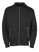 50423-191-09 Kapuzensweatshirt mit Reißverschluss - Schwarz