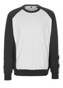 50503-830-0618 Sweatshirt - Weiß/Dunkelanthrazit