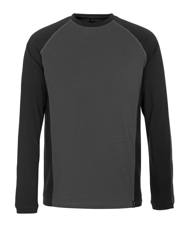 50504-250-1809 T-Shirt, Langarm - Dunkelanthrazit/Schwarz