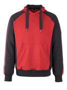50508-811-0209 Kapuzensweatshirt - Rot/Schwarz