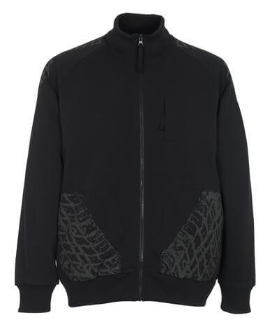 50549-830-09 Sweatshirt mit Reißverschluss - Schwarz