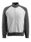 50565-963-1809 Sweatshirt mit Reißverschluss - Dunkelanthrazit/Schwarz