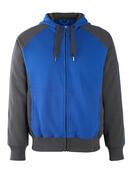 50566-963-11010 Kapuzensweatshirt mit Reißverschluss - Kornblau/Schwarzblau