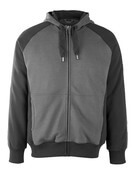 50566-963-1809 Kapuzensweatshirt mit Reißverschluss - Dunkelanthrazit/Schwarz