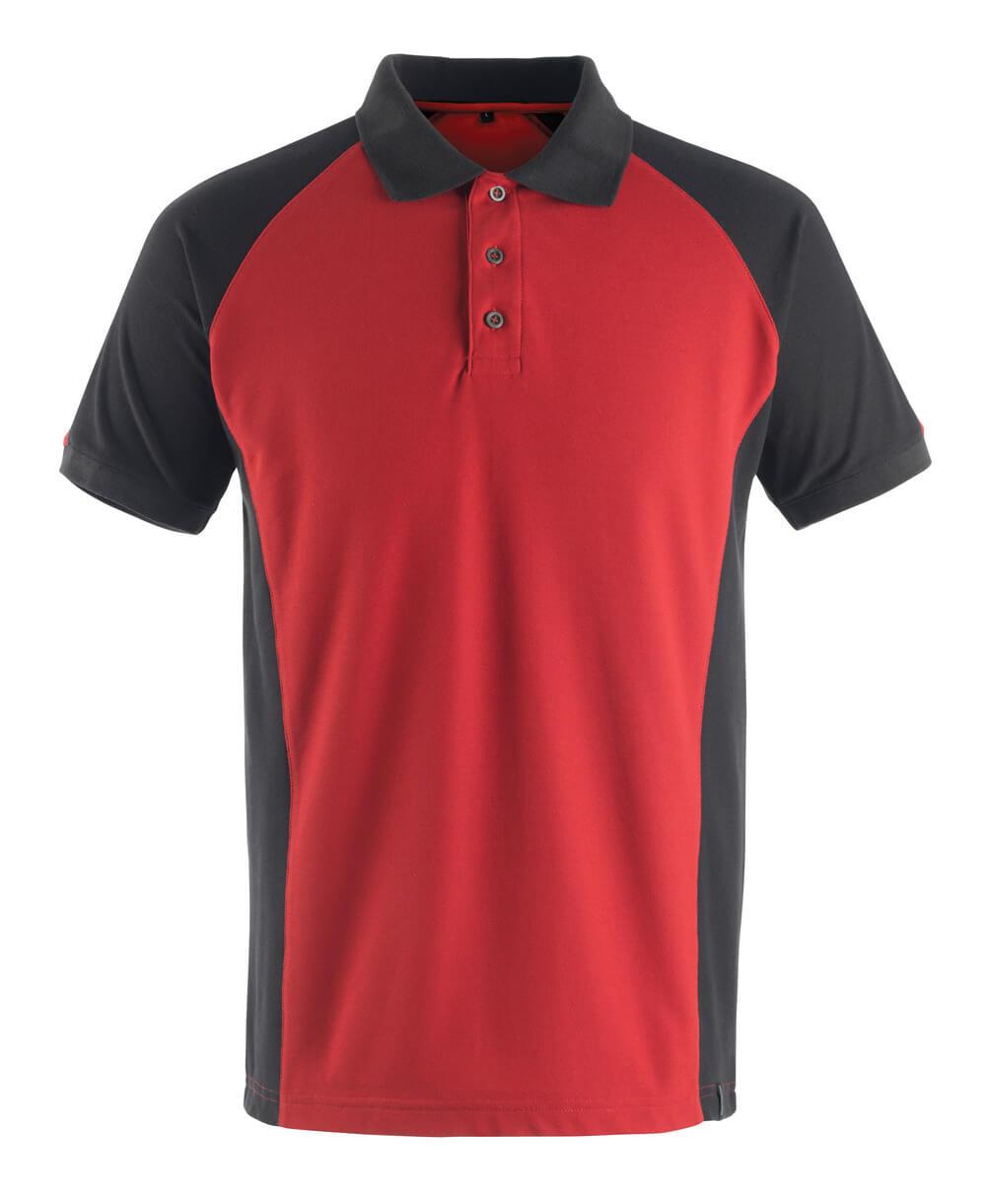 50569-961-0209 Polo-Shirt - Rot/Schwarz