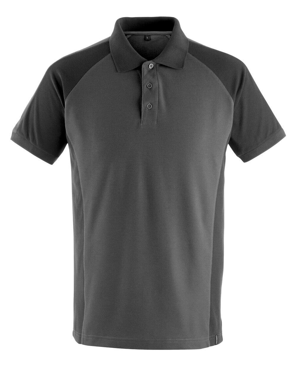 50569-961-1809 Polo-Shirt - Dunkelanthrazit/Schwarz