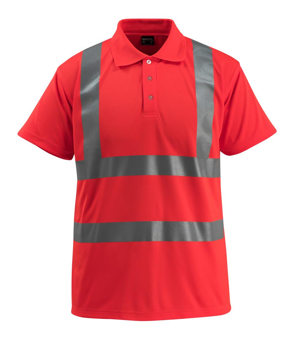 50593-976-222 Polo-Shirt - hi-vis Rot