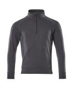 50611-971-010 Sweatshirt mit kurzem Reißverschluss - Schwarzblau