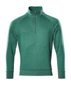 50611-971-03 Sweatshirt mit kurzem Reißverschluss - Grün