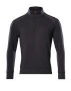 50611-971-09 Sweatshirt mit kurzem Reißverschluss - Schwarz