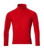 50611-971-202 Sweatshirt mit kurzem Reißverschluss - Verkehrsrot