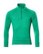 50611-971-333 Sweatshirt mit kurzem Reißverschluss - Grasgrün