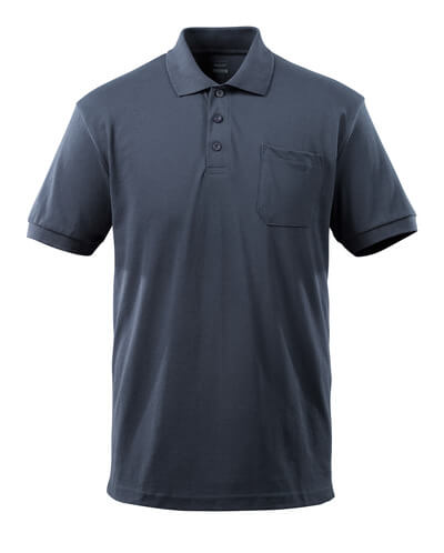 51586-968-010 Polo-Shirt mit Brusttasche - Schwarzblau