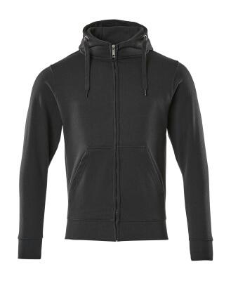 51590-970-010 Kapuzensweatshirt mit Reißverschluss - Schwarzblau