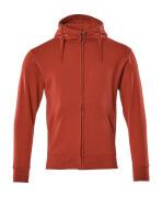 51590-970-02 Kapuzensweatshirt mit Reißverschluss - Rot