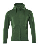 51590-970-03 Kapuzensweatshirt mit Reißverschluss - Grün