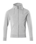 51590-970-08 Kapuzensweatshirt mit Reißverschluss - Grau-meliert