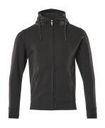 51590-970-09 Kapuzensweatshirt mit Reißverschluss - Schwarz