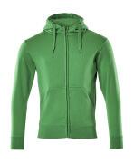 51590-970-333 Kapuzensweatshirt mit Reißverschluss - Grasgrün