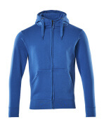 51590-970-91 Kapuzensweatshirt mit Reißverschluss - Azurblau