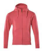 51590-970-96 Kapuzensweatshirt mit Reißverschluss - Himbeerrot