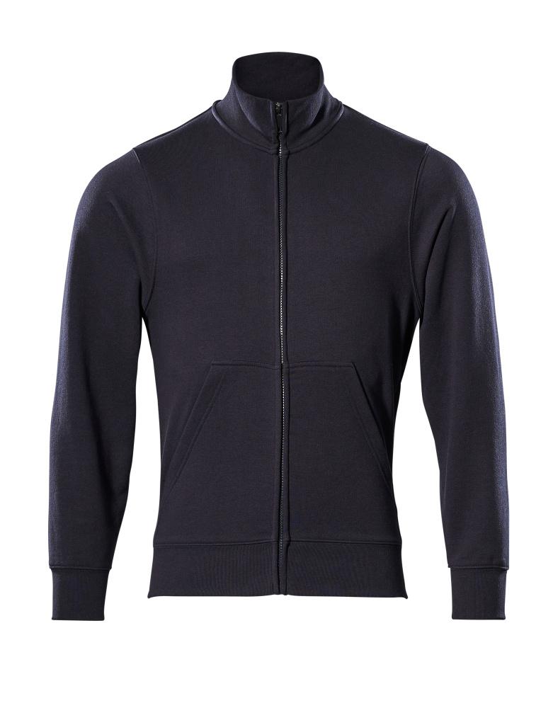 51591-970-010 Sweatshirt mit Reißverschluss - Schwarzblau